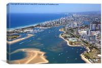 Surfers Paradise Along the Gold Coast, Canvas Print
