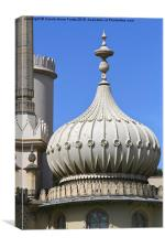 The Royal Pavilion Brighton England - Detail, Canvas Print