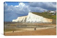 Chalk Cliffs at Saltdean East Sussex, Canvas Print