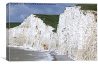 Seven Sisters From Birling Gap, Canvas Print
