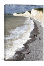 Seven Sisters From Birling Gap  , Canvas Print