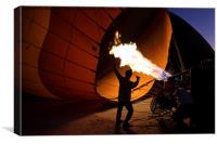 Preparing a Hot Air Balloon, Canvas Print