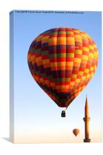 Ballooning Over Goreme with Minaret, Canvas Print