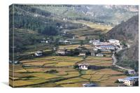 Flying into Bhutan, Canvas Print