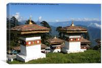 Memorial Site, Dochula Pass, Bhutan., Canvas Print