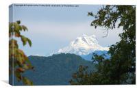 Mount Puensum, Bhutan, Canvas Print
