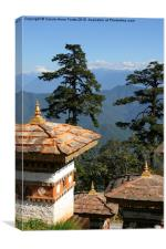 Memorial Site, Dochula Pass, Bhutan., Canvas Print