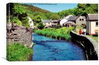 Solva Village, St Brides Bay, Pembrokeshire, Canvas Print