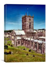 St David's Cathedral. Pembrokeshire, Wales, Canvas Print