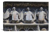 Angels on Canterbury Cathedral Gateway, Canvas Print