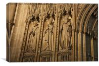 Detail of The Great Screen Canterbury Cathedral, Canvas Print