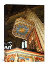 The Pulpit, Canterbury Cathedral, Canvas Print