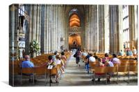 Canterbury Cathedral Interior, Canvas Print