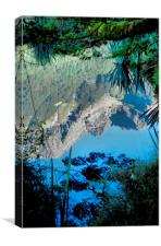 Mirror Lakes #1, New Zealand, Canvas Print