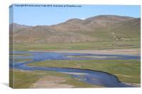 The River Kherlen, Mongolia, Canvas Print