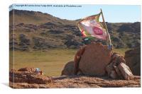 Stone Pyramid, Middle Gobi Mongolia, Canvas Print