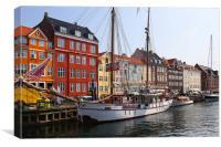 Nyhavn Copenhagen Denmark, Canvas Print
