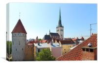 Tallinn Old Town Estonia, Canvas Print