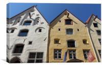 The Three Sister's Houses Tallinn Old Town Estonia, Canvas Print