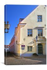 Medieval Street, Old Town, Tallinn, Estonia, Canvas Print
