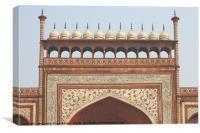 Gateway at the Taj Mahal, Canvas Print