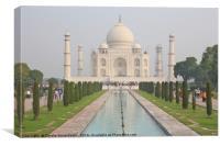 The Taj Mahal, Agra, Canvas Print