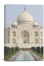 The Taj Mahal, Agra, Canvas Print
