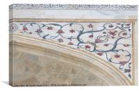 Taj Mahal Marble & Inlay, Canvas Print