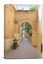 In the Medina, Fes, Canvas Print
