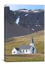 Norwegian Lutheran Church, Grytvikin, Canvas Print