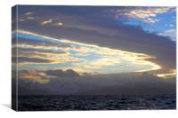 Sunset, South Georgia, Southern Atlantic, Canvas Print