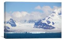 Glacier and Mountains, Canvas Print
