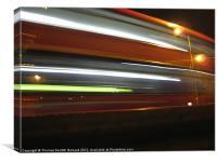 Nightime Rushing, Canvas Print