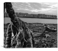Rope On Thames, Canvas Print