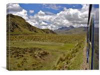 the train to Cusco, Canvas Print
