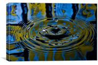Colourful Droplet, Canvas Print