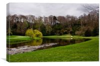 River Skell in Spring, Canvas Print