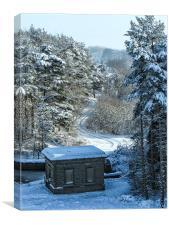 Snowy Scene Scout Dike, Canvas Print