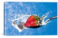 Strawberry Splash, Canvas Print