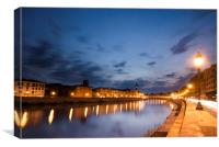 River Arno , Canvas Print