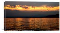Lake Como Sunset, Canvas Print