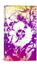Pop art flower, Canvas Print