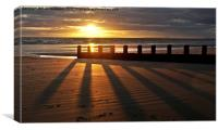 Barmouth Sunset 3, Canvas Print