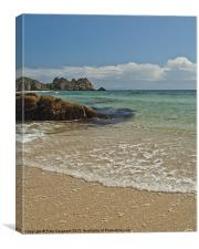 Porthcurno Beach, Canvas Print