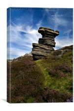 Salt Cellar, Derwent Edge, Canvas Print