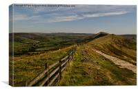 Great Ridge, Castleton, Canvas Print