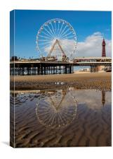 Reflecting Blackpool, Canvas Print