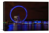 London Eye from the north bank, Canvas Print