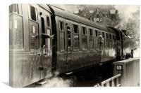 Departing Steam Train, Canvas Print