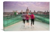 London Keeping Fit, Canvas Print